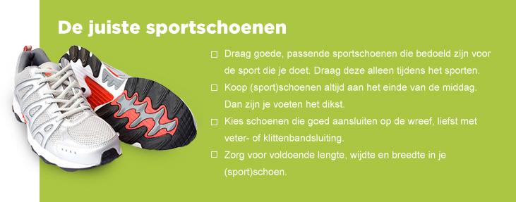 De juiste sportschoenen