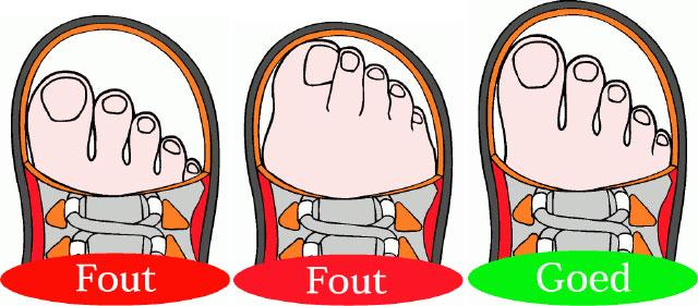 De juiste schoenen